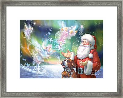Winter Fairies Framed Print by Zorina Baldescu