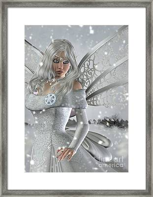 Winter Fairy In The Snow Framed Print