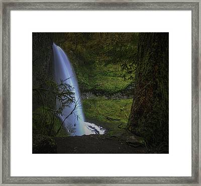 Winter Falls Framed Print by Jean-Jacques Thebault