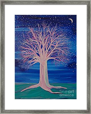 Winter Fantasy Tree Framed Print