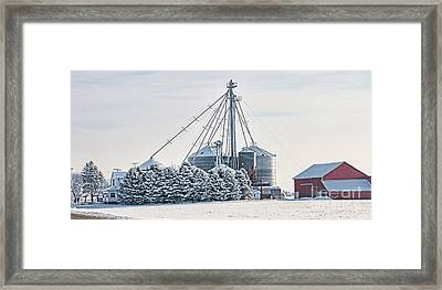 Winter Farm  7365 Framed Print by Jack Schultz