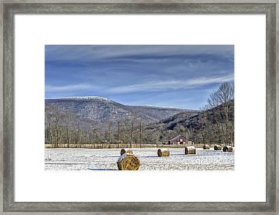Winter Farm West Virginia Framed Print by Thomas R Fletcher