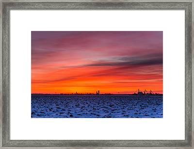 Winter Farmland Framed Print