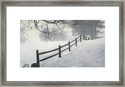 Winter Fence Framed Print by Bill Wakeley