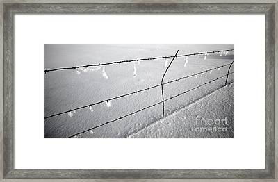 Winter Fence Harney Oregon Framed Print by Michele AnneLouise Cohen