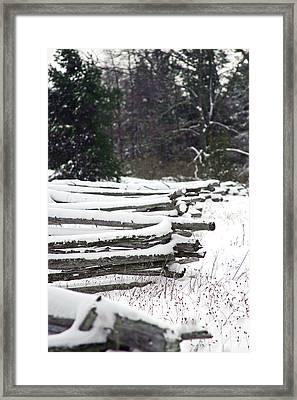 Winter Fence Framed Print by Ty Helbach