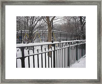 Winter Fences Framed Print by James Dolan