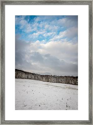 Winter Field Framed Print by Chris Bordeleau