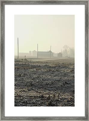 Winter Field Framed Print by Daniel Kasztelan