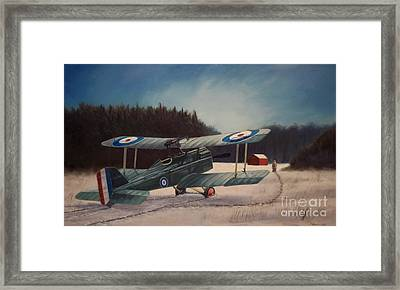 Framed Print featuring the painting Winter Field by Stephen Roberson