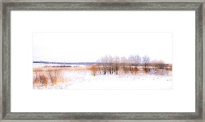 Winter Fields. In Color Framed Print by Jenny Rainbow