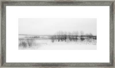 Winter Fields. Monochromatic  Framed Print by Jenny Rainbow