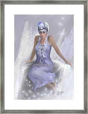 Winter Flame Framed Print