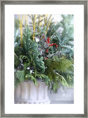 Winter Floral Arrangement Framed Print by Birgit Tyrrell