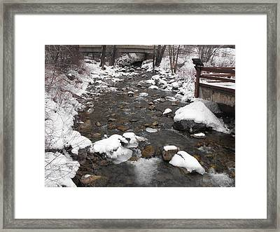 Winter Flow Framed Print by Adam Cornelison