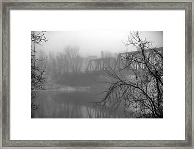 Winter Fog Framed Print by Bob Orsillo