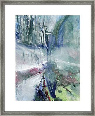 Framed Print featuring the painting Winter Forest Painting by John Fish
