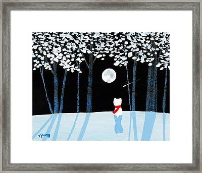 Winter Forest Framed Print by Todd Young