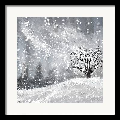 Winter In New England Framed Prints