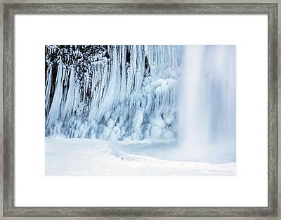 Winter Freeze Framed Print by Angie Vogel