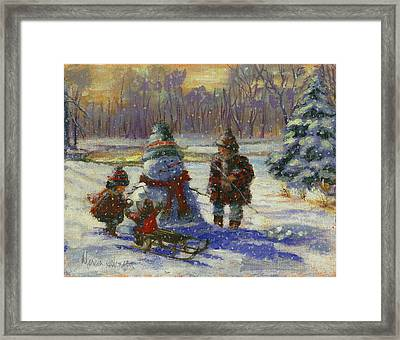 Winter Friend Framed Print