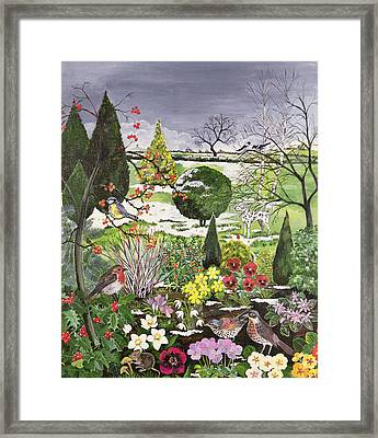 Winter From The Four Seasons One Of A Set Of Four Framed Print by Hilary Jones
