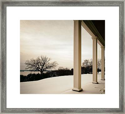 Winter From The Porch Of Mount Vernon Framed Print by Mountain Dreams