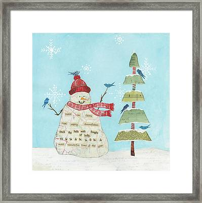 Winter Fun I Framed Print by Courtney Prahl