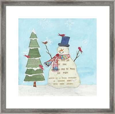 Winter Fun II Framed Print by Courtney Prahl