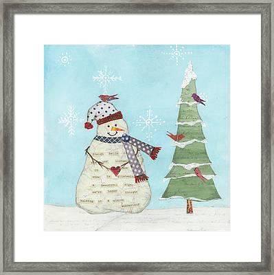 Winter Fun IIi Framed Print by Courtney Prahl