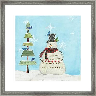 Winter Fun Iv Framed Print by Courtney Prahl