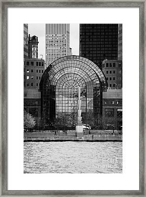 Winter Garden At World Trade Financial Center New York City Framed Print by Joe Fox