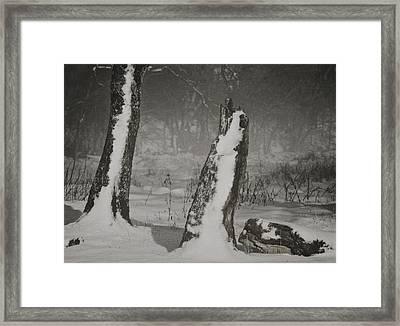 Winter Gate Framed Print by Odd Jeppesen