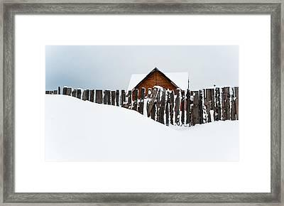 Winter Geometry 1. Russia Framed Print