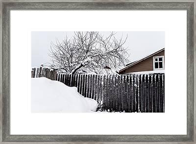 Winter Geometry 2. Russia Framed Print