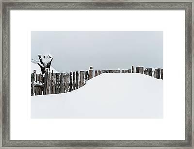 Winter Geometry 3. Russia Framed Print