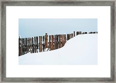 Winter Geometry 4. Russia Framed Print by Jenny Rainbow