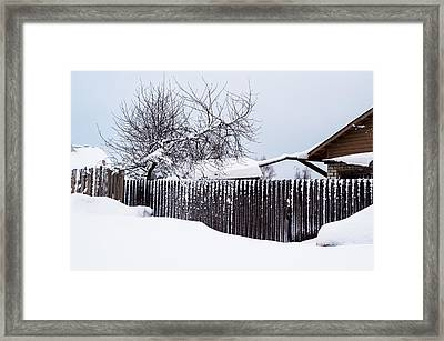 Winter Geometry. Russia Framed Print