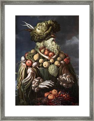Winter Framed Print by Giovanni Stanchi