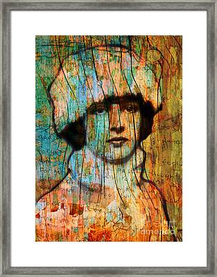 Winter Girl Variation 1 Framed Print by Judy Wood