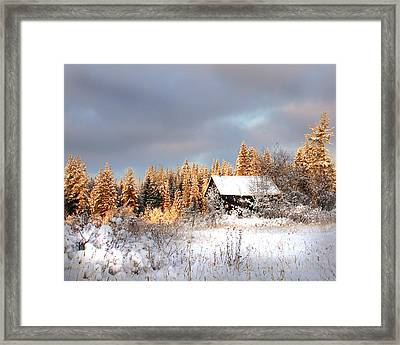 Winter Glow Framed Print by Doug Fredericks