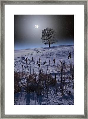Framed Print featuring the photograph Winter Glow by Larry Landolfi