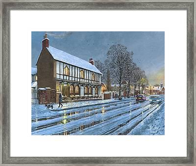 Winter Glow Parish Room Tickhill Yorkshire Framed Print by Richard Harpum