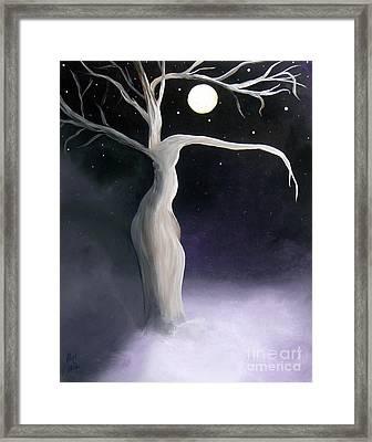 Winter Goddess Framed Print by Alys Caviness-Gober