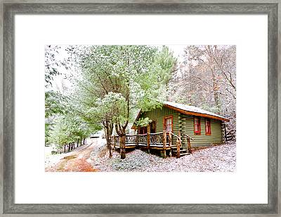 Winter Green Framed Print by Debra and Dave Vanderlaan