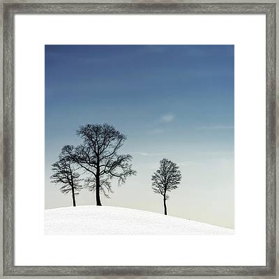 Winter Haiku Framed Print