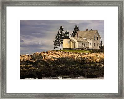 Winter Harbor Lighthouse Framed Print