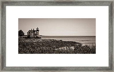 Winter Harbor Lighthouse Framed Print