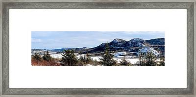 Winter Has Arrived In The Valley Framed Print by Barbara Griffin