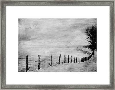 Winter Haze Framed Print by Kathy Jennings